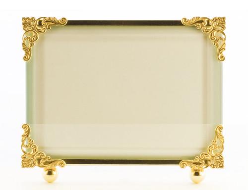 La Paris Corner Decor 8 x 10 Inch Brass Picture Frame - Horizontal