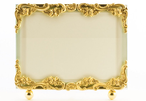 La Paris Country French 8 x 10 Inch Brass Picture Frame - Horizontal