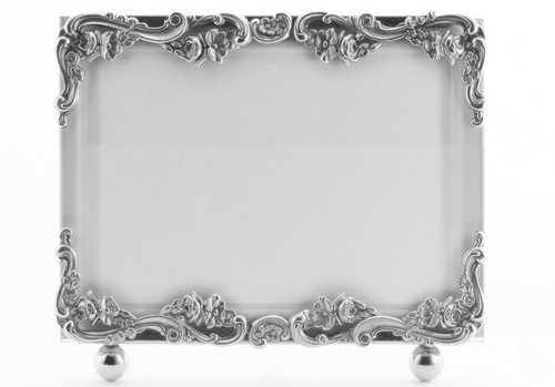 La Paris Country French 5 x 7 Inch Silver Plated Picture Frame - Horizontal