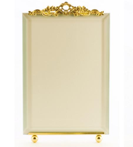 La Paris Country Garden 4 x 6 Inch Brass Picture Frame - Vertical