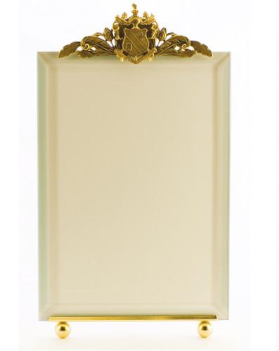 La Paris Crest 8 x 10 Inch Brass Picture Frame - Vertical