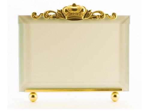 La Paris Crown 4 x 6 Inch Brass Picture Frame - Horizontal
