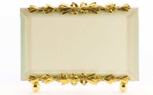 La Paris Evergreen 3.5 x 5 Inch Brass Picture Frame - Horizontal