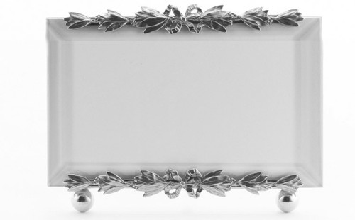 La Paris Evergreen 4 x 6 Inch Silver Plated Picture Frame - Horizontal
