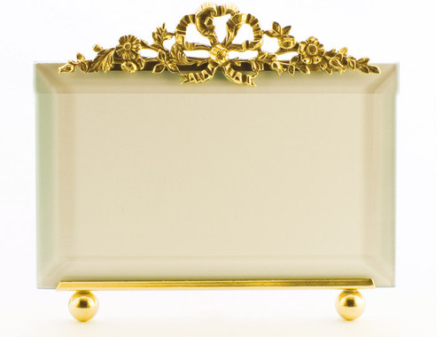 La Paris Florentine 4 x 6 Inch Brass Picture Frame - Horizontal