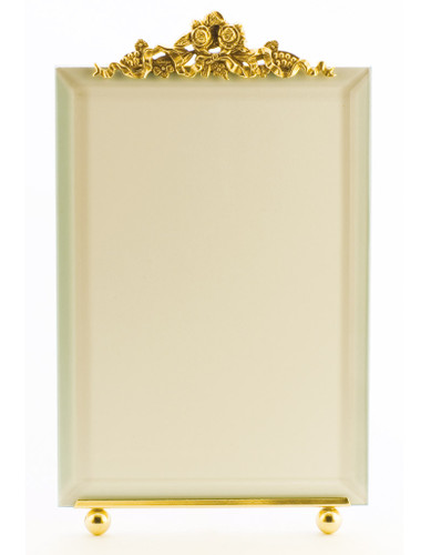 La Paris Forget Me Not 5 x 7 Inch Brass Picture Frame - Vertical