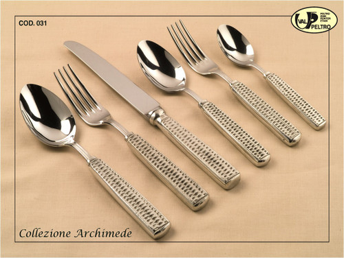 ValPeltro Archimede Five Piece 5 PC Place Setting Pewter