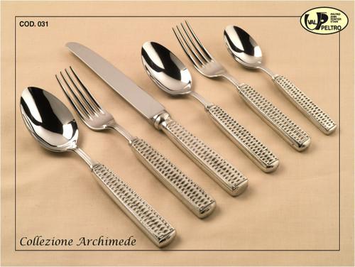 ValPeltro Archimede Four Piece 4 PC Steak Knife Set Pewter