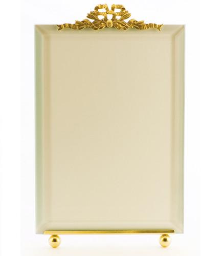 La Paris French Ribbon 8 x 10 Inch Brass Picture Frame - Vertical