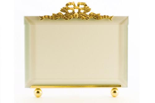 La Paris French Ribbon 3.5 x 5 Inch Brass Picture Frame - Horizontal