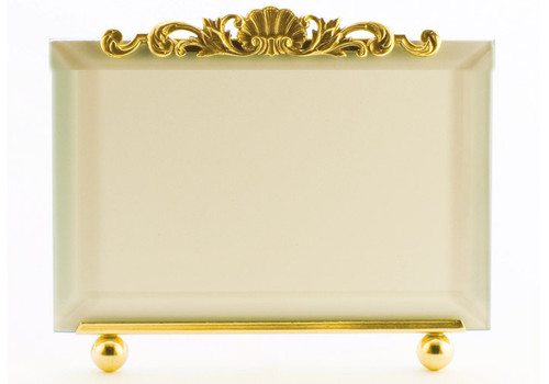 La Paris French Shell 5 x 7 Inch Brass Picture Frame - Horizontal