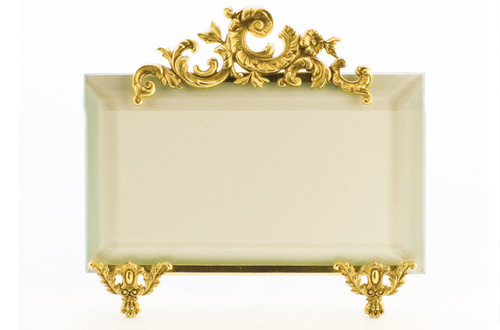 La Paris French Stand 5 x 7 Inch Brass Picture Frame - Horizontal