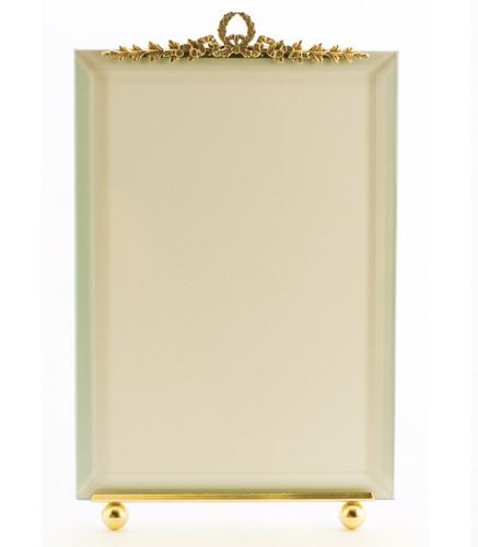 La Paris Garland 3.5 x 5 Inch Brass Picture Frame - Vertical