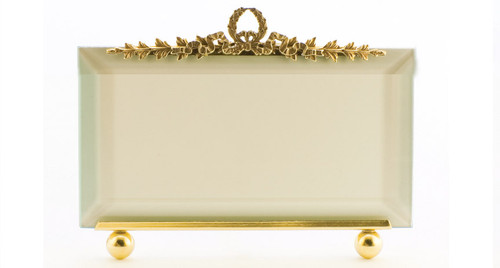 La Paris Garland 5 x 7 Inch Brass Picture Frame - Horizontal