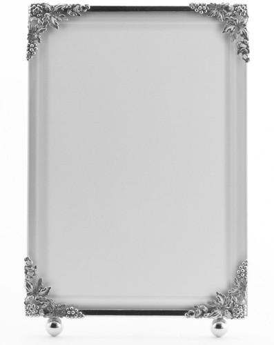 La Paris Grapevine 3.5 x 5 Inch Silver Plated Picture Frame - Vertical