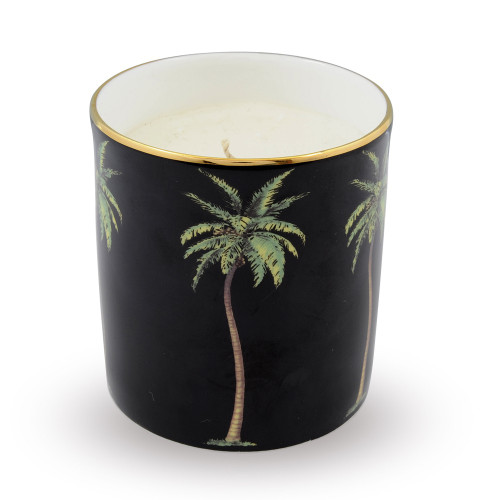 Halcyon Days Palm Black Filled Candle BCMWP02CAG