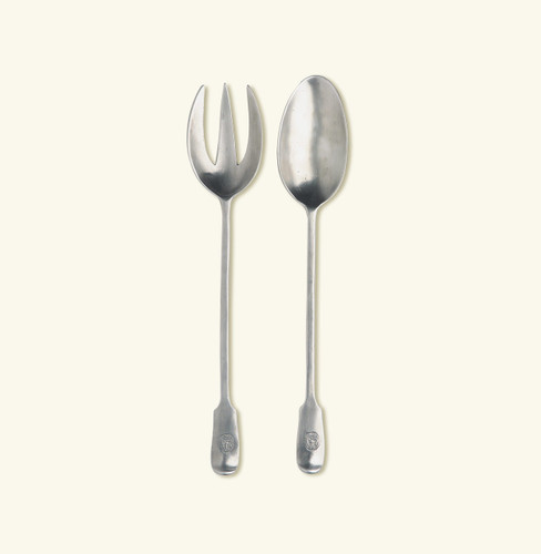 Match Pewter Antique Serving Fork & Spoon