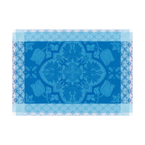 Le Jacquard Francais Azulejos Blue china Placemat 21 x 15 Inch Set of 4