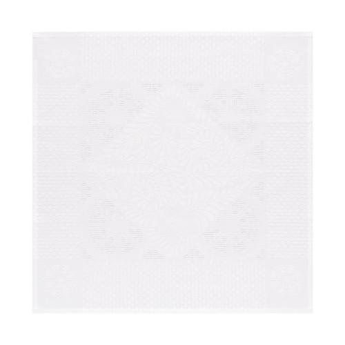 Le Jacquard Francais Bosphore Blanc White Napkin 22 x 22 Inch Set of 4
