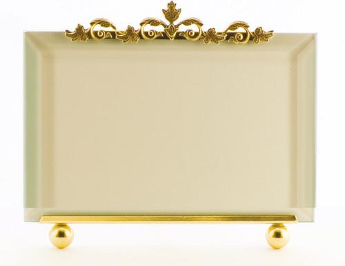La Paris Leaf Ornament 8 x 10 Inch Brass Picture Frame - Horizontal