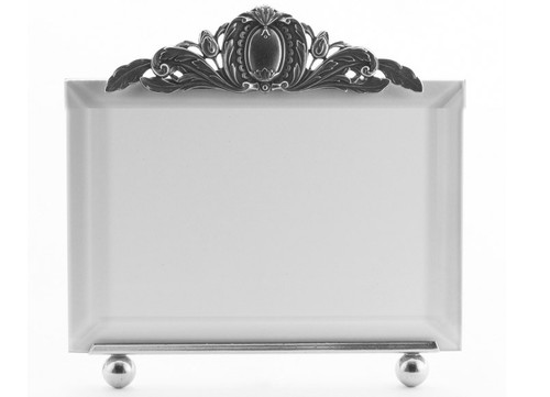 La Paris Louis Xv 4 x 6 Inch Silver Plated Picture Frame - Horizontal