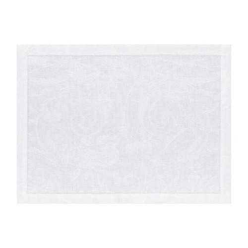 Le Jacquard Francais Tivoli White Placemat 14 x 19 Inch Set of 4