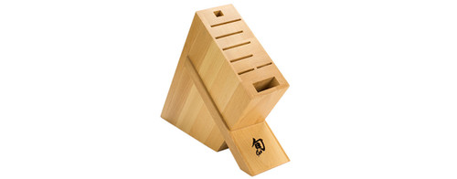 Shun Beech Angled Knives Block 8-Slot