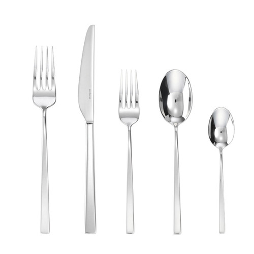 Sambonet linea q 5 piece place setting solid handle - 18/10 stainless steel