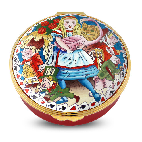 Halcyon Days Alice In Wonderland 150Th Ann Enamel Box Limited Edition Of 150 ENALI0651G