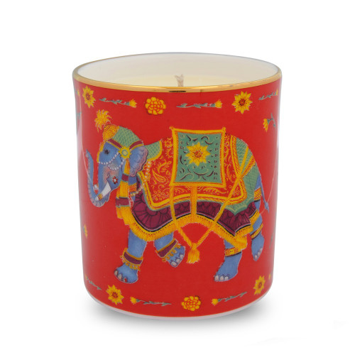 Halcyon Days Ceremonial Elephant Red Candle BCCIE06CAG