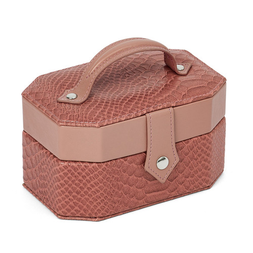 Rose Textured Snake Pattern Jewelry Case GM8443