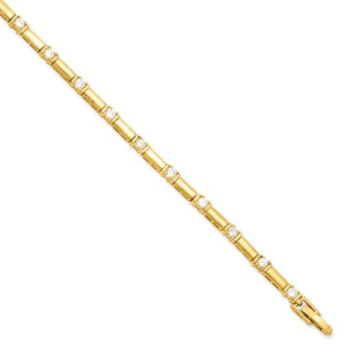 8.25 inch Gold-plated Diamond Bracelet KW467-8.25