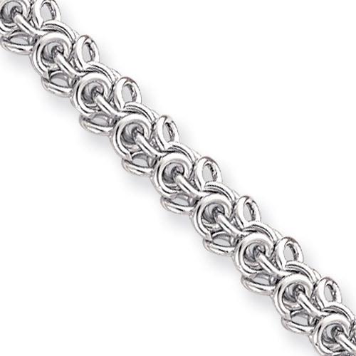 18 inch Rhodium-plated Arabesque Necklace KW475-18