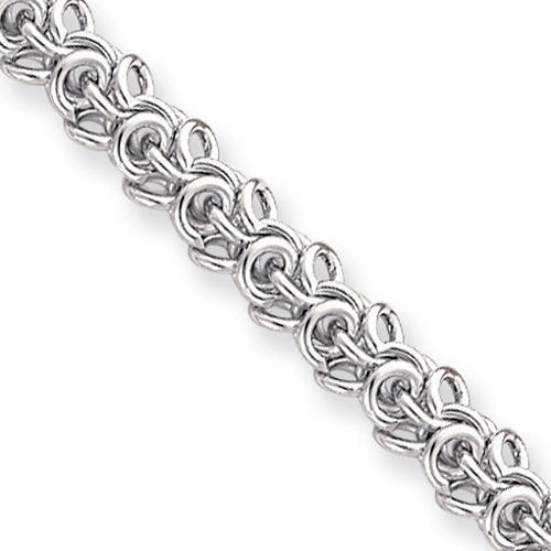 20 inch Rhodium-plated Arabesque Necklace KW475-20
