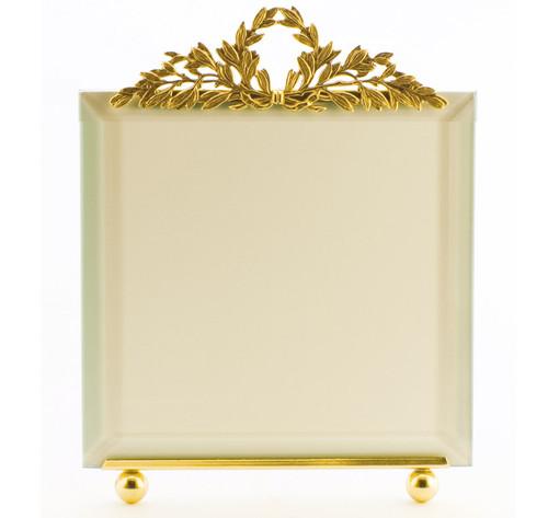 La Paris Wreath 5 x 5 Inch Brass Picture Frame