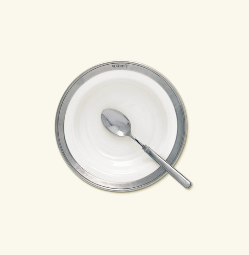 Match Pewter Convivio Soup Pasta Bowl - White