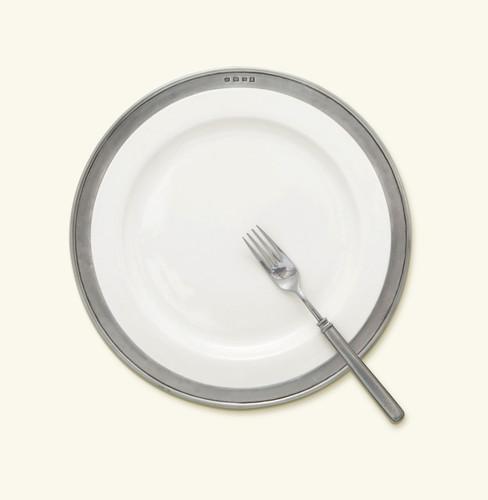 Match Pewter Convivio Buffet Plate - White