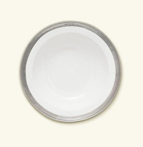 Match Pewter Convivio Round Serving Bowl Small - White