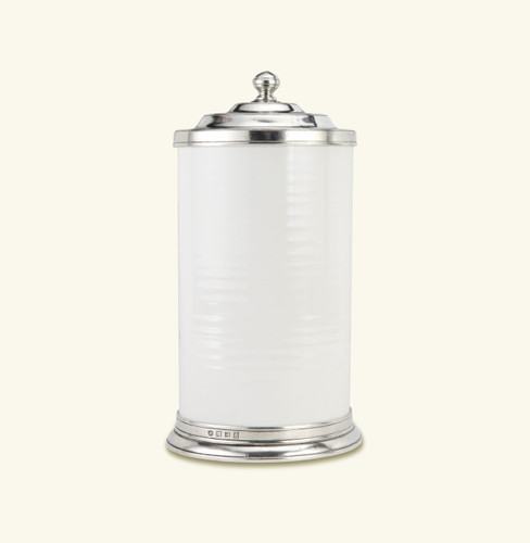 Match Pewter Convivio Canister Large - White