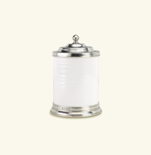Match Pewter Convivio Canister Small - White