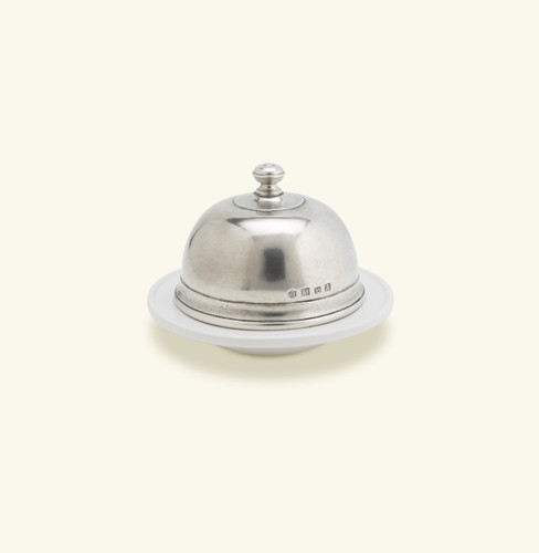 Match Pewter Convivio Butter Dome Large - White