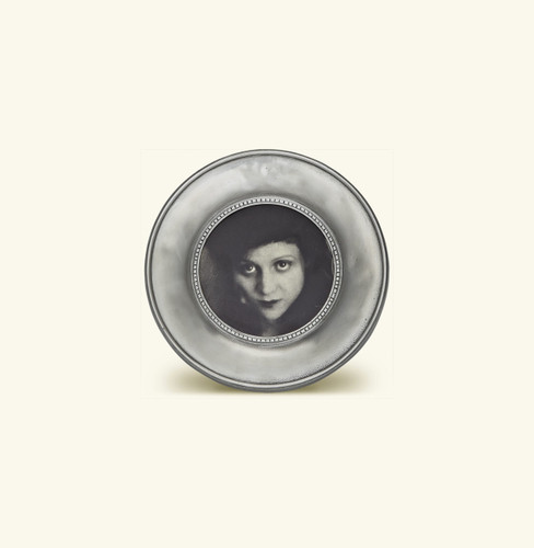 Match Pewter Como Round Picture Frame Small