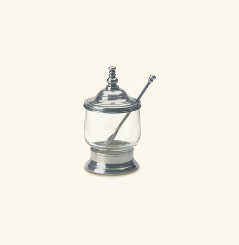 Match Pewter Condiment Jar With Spoon 831
