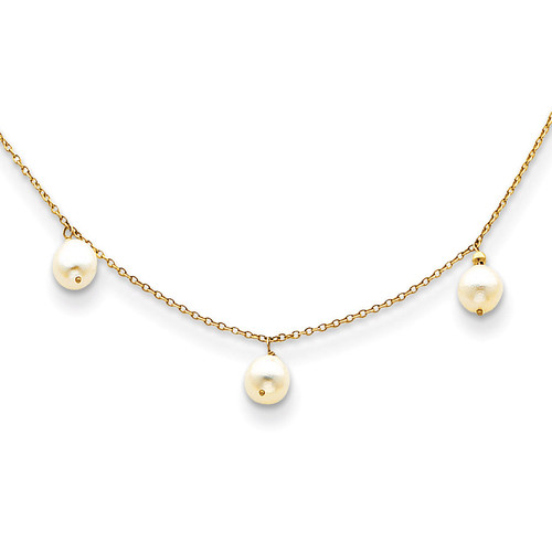 14k Gold Fresh Water Cultured Pearl Necklace XF131-16