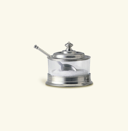 Match Pewter Jam Pot With Spoon 953