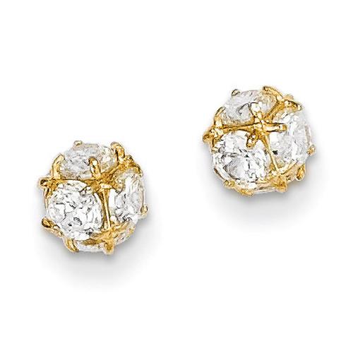 14k Gold Diamond Post Earrings YE1602