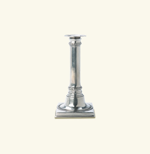 Match Pewter Square Based Candlestick 1014