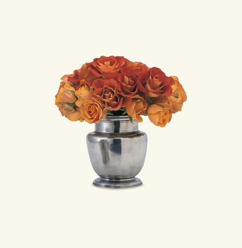 Match Pewter Rimmed Vase 1073