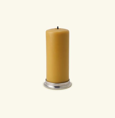 Match Pewter 3 Pillar Candle Base 1119