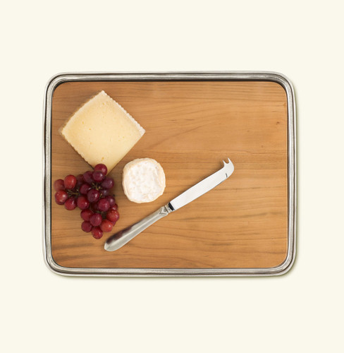 Match Pewter Cheese Tray No Handles Cherry Wood Medium 1131